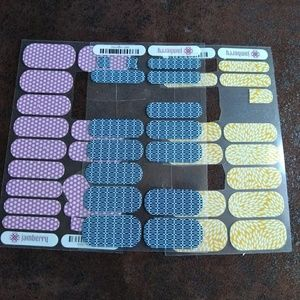 Jamberry 3 partial sheets of nails